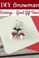 DIY Snowman Earrings