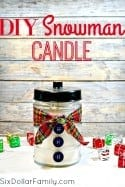 Looking for a homemade gift idea? These DIY Snowman candle is my new favorite! Each one takes less than 10 minutes but look like you spend hours! They're the perfect gift idea for anyone who loves snowmen!