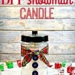Homemade Gift Idea – DIY Snowman Candle