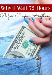 """Do you like to shop? I do but my family budget doesn't! I don't allow myself to shop in """"real time"""" though. Instead? I make myself wait 3 days. Want to know why? Let me show you!"""