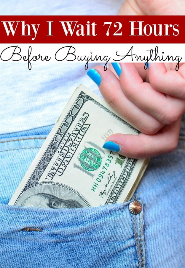 "Do you like to shop? I do but my family budget doesn't! I don't allow myself to shop in ""real time"" though. Instead? I make myself wait 3 days. Want to know why? Let me show you!"