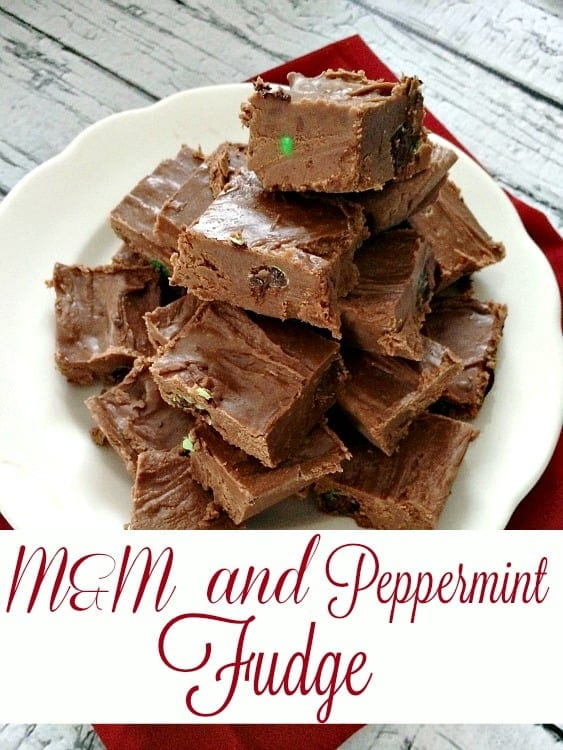 Perfect for a Christmas baking session, this M&M and Peppermint Fudge Recipe is fantastic! It's so good you'll want to make it over and over again!