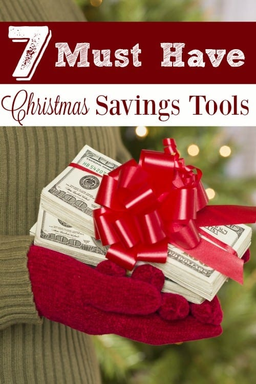 Christmas and gift giving at the holidays can be so expensive! Make SURE you have these 7 MUST HAVE Christmas Savings Tools in your money saving arsenal!