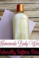 Dry Skin? Itchy Skin? Give This Homemade Body Wash Recipe a Try!