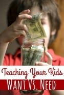 Teaching Your Kids Want vs. Needs