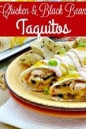 Freezer Recipes – Chicken and Black Bean Taquito Recipe with Sour Cream Sauce