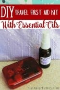 DIY Travel First Aid Kit With Essential Oils + Homemade Hand Santizer Recipe