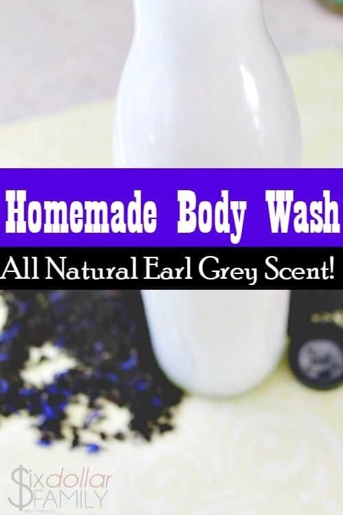 DIY Body Wash With (Earl Grey Scented) - If you love Earl Grey tea, this natural body wash is right up your alley! Bergamot and Lavender oils come together with the other ingredients to create a perfectly scented, silky smooth homemade body wash that is perfect for anyone!