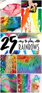Rainbows are not just pretty! They're fun too! These 25 kids rainbow crafts and activities are all super fun ways to play with rainbows!