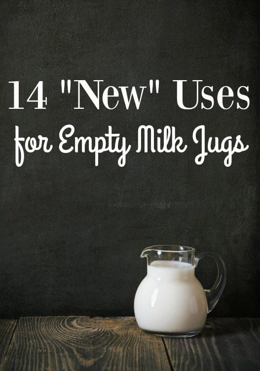 "Ways to Use Empty Milk Jugs - Holding onto empty milk jugs? Put them to good use! These 14 ""new"" uses for empty milk jugs will blow your mind!"
