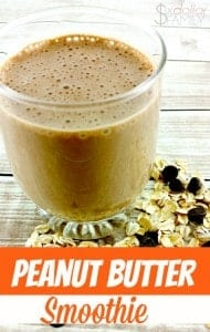Peanut Butter Smoothie Recipe - Craving a peanut butter cup? Wait until you taste this creamy peanut butter smoothie recipe! Of all of the smoothie recipes I have, it's my fav!