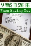 9 Ways to Save Big When Eating Out