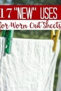 "Ways to Upcycle Sheets – 17 ""New"" Uses for Worn Out Sheets"