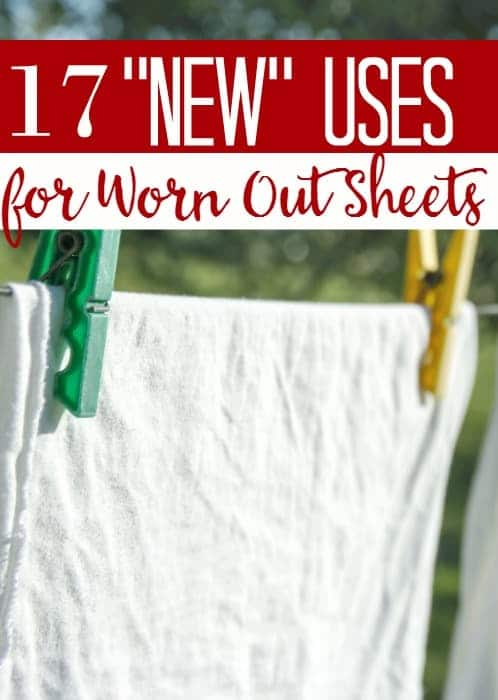 "Do you have old sheets lying around? Who doesn't? These 17 ""new"" uses for worn out sheets will have you looking at them in a different light...and maybe saving a buck or two in the process!"