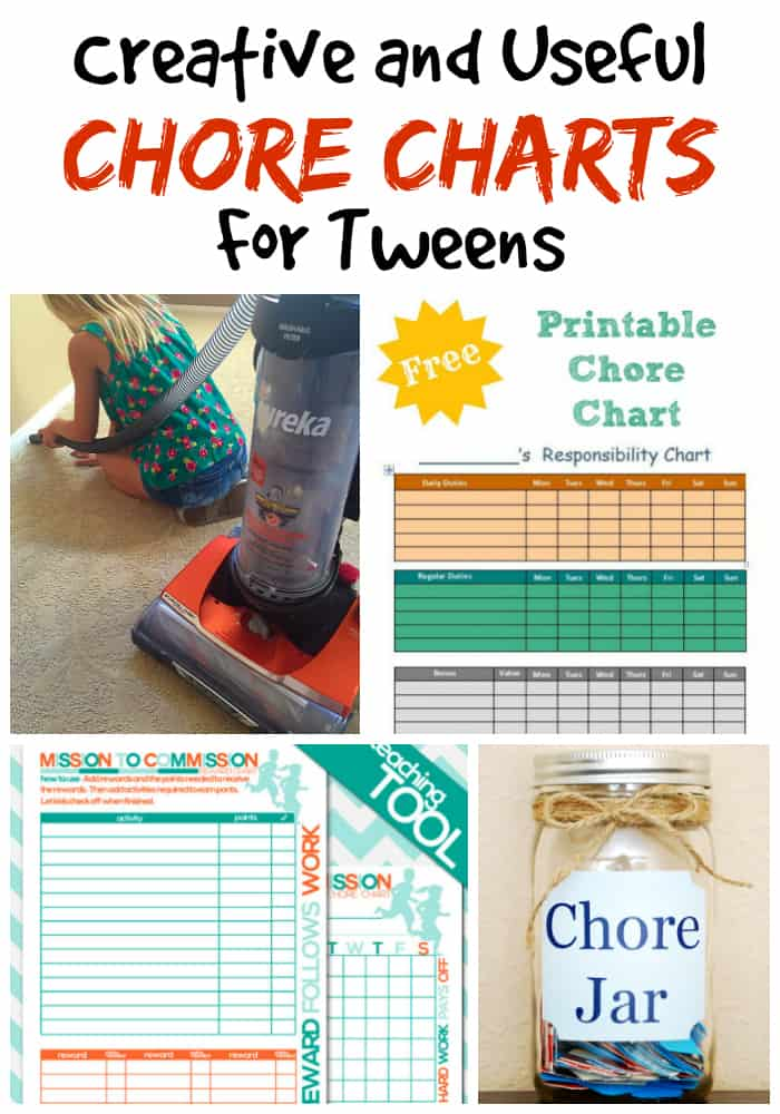 printable teenage chore charts