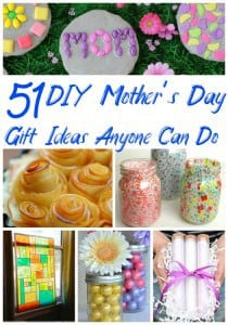 Homemade Mother's Day Gift Ideas - Skip the expensive store bought gift and give Mom something she'll always remember! These 51 DIY Mother's Day Gift Ideas are easy enough for anyone to make, awesome enough that Mom will always remember and cheap enough that you won't blow your budget!