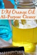 DIY Orange Oil Cleaner! - If you love making homemade cleaners, you'll LOVE this DIY Orange All-Purpose Cleaner! My favorite of all natural cleaners, it's so simple to make and super cheap too! Plus it smells amazing and works like a charm!