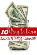 Earn from Home – 10 Ways to Earn $250.00 EVERY Month!