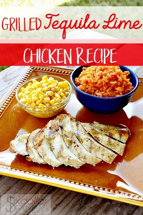 Tequila Recipes - Grilled Tequila Lime Chicken Recipe