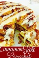 Cinnamon Roll Pancakes with Cream Cheese Icing Recipe
