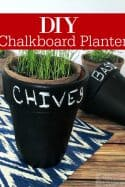 DIY Chalkboard Herb Planter -Need a simple and easy craft for this weekend? This DIY Chalkboard Planter is super easy and oh so cute! It's perfect for indoor herb gardens or succulents!
