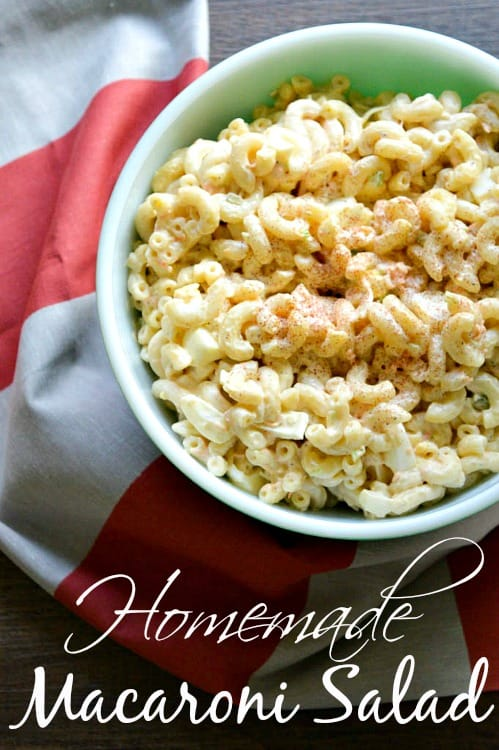 Picnic season is here and this easy macaroni salad recipe is the perfect side dish! Take it to your next potluck, pack it in your picnic basket or serve it along side of your favorite BBQ! It's so good you can't go wrong!