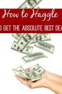 How to Haggle to Score the Best Bargain
