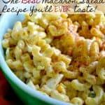 Simple Macaroni Salad Recipe { Picnic Recipe }