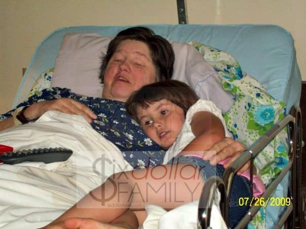 My Mom and my Emma in July 2009.
