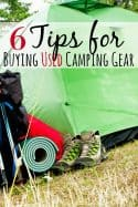 6 Tips for Buying Used Camping Gear