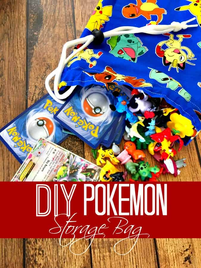 Looking for a quick sewing project for beginners? This DIY Pokemon Storage bag is perfect! Sewing for beginners has never been this easy!