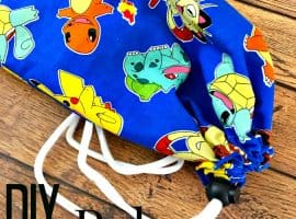 Sewing for Beginners – DIY Pokemon Storage Bag