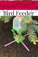 DIY Upcycled Milk Jug Bird Feeder
