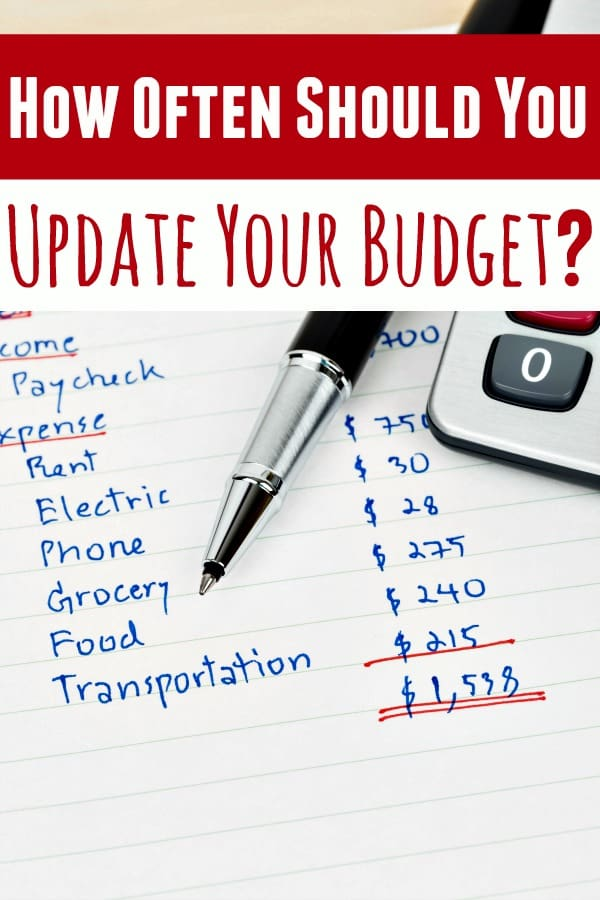 How often do you update your budget? What if I told you it probably isn't often enough? Let me show you how often you need to be doing it and explain why! You'll be amazed at how much money you save!