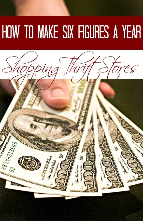 Get paid 6 figures per year for shopping at thrift stores? YES!! You can do it too and I'm going to show you how!