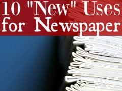 "Ways to Upcycle Newspaper – 10 ""New"" Uses for Newspaper"