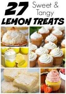 Need a sweet or tangy treat? Give one of these 27 lemon recipes a try! They're perfect for a summer day or as a way to brighten a dreary night!