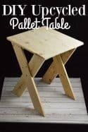 DIY Upcycled Pallet End Table or Night Stand