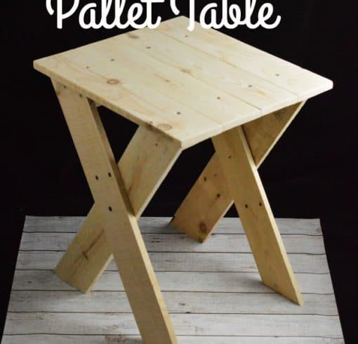 Pallet Project – Upcycled Pallet Table
