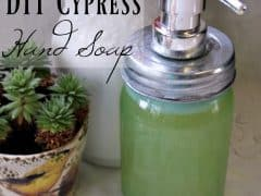 DIY Hand Soap – Homemade Hand Soap with Cypress and White Fir Scent