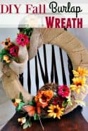 Fall Home Decor – DIY Burlap Fall Wreath