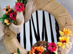 Fall Home Decor – DIY Burlap Fall Wreath