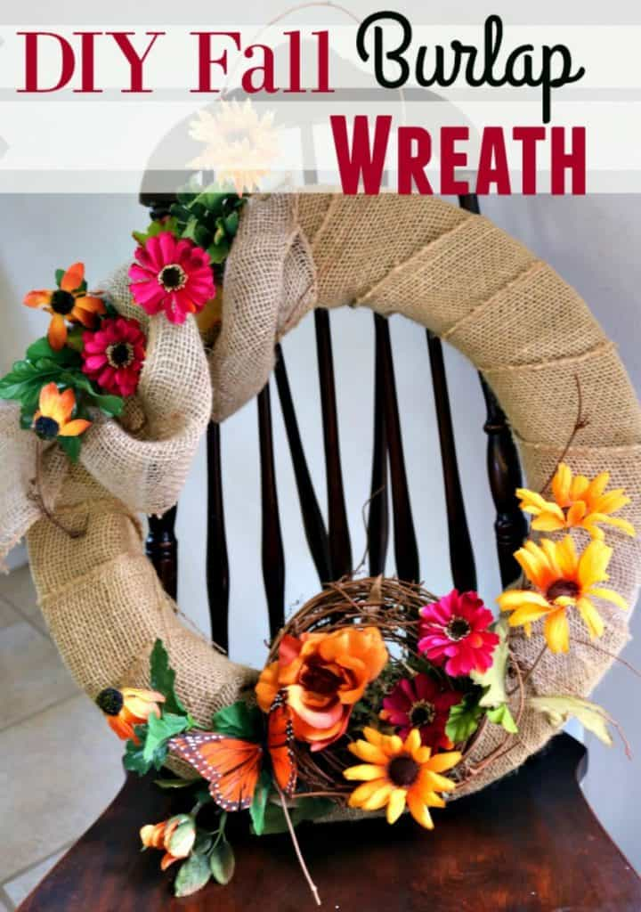 Fall is coming! If you're looking for an AMAZING fall home decor piece? This is it! This DIY Burlap Fall Wreath is easy to do and absolutely beautiful!