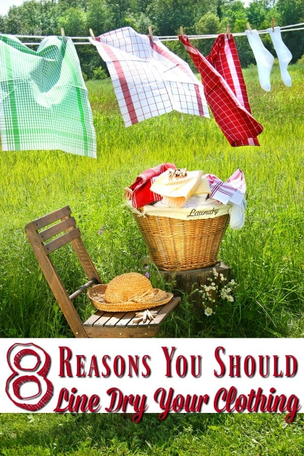 Save money on laundry? Yes! It's possible! Let me show you 8 reasons that you should be line drying your clothes!