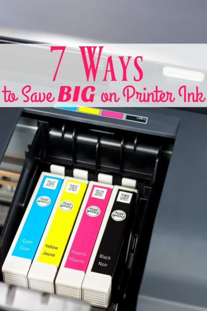 "Is paying for printer ink killing your budget? You need to learn how to save money on printer ink! These 7 ways can help! They're not your typical ""Don't print"" kind of tips!"
