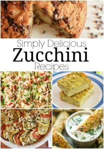 Side dishes, main dishes and more! If you love zucchini, you'll adore these simply delicious zucchini recipes! Quick, easy and oh so good!