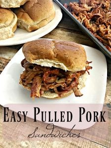 Looking for a super simple crock pot recipe? Give this Easy Pulled Pork Sandwich Recipe a try! It's so good that you'll wonder why you've never made it before!