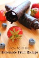 Kids tired of the same old snacks? You need a few new easy snack recipes and these homemade fruit rollups are perfect! Your kids will love them, you'll love how simple they are and best of all? They'll save you money!