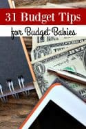 31 Budget Tips for Budget Babies