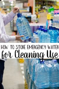 Ever wondered how to store emergency water for cleaning use only? Use this tip! It makes keeping your emergency drinking water and your emergency water separate super easy!